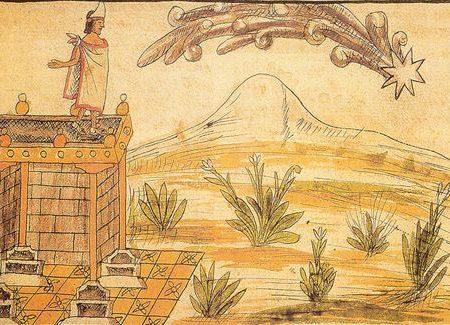 Una cometa alla fine dell'Impero Azteco